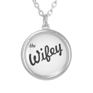 The Wifey Silver Plated Necklace