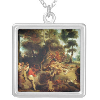The Wild Boar Hunt Silver Plated Necklace