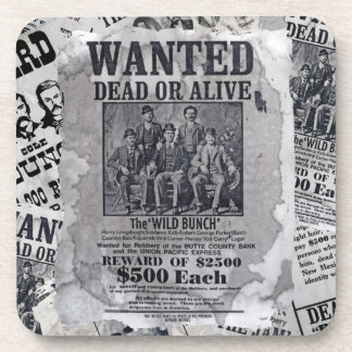 The Wild Bunch Wanted Poster Beverage Coaster