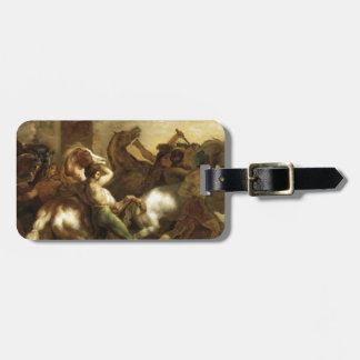 The Wild Horse Race at Rome by Theodore Gericault Luggage Tag