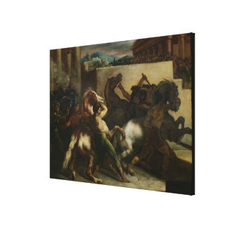The Wild Horse Race at Rome, c.1817 Canvas Print