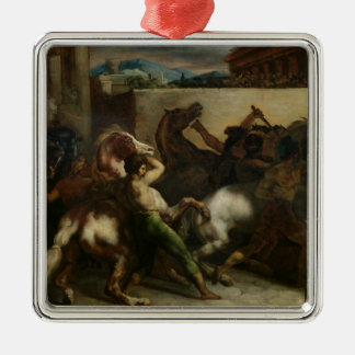 The Wild Horse Race at Rome, c.1817 Christmas Tree Ornaments
