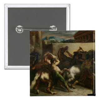 The Wild Horse Race at Rome, c.1817 Pinback Button