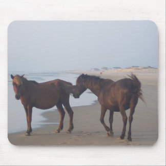 The Wild Horses of Carova Beach Mouse Pad