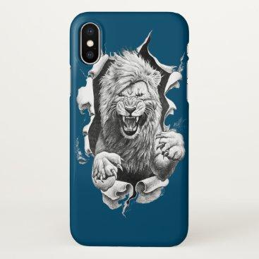 The wild lion iPhone x case