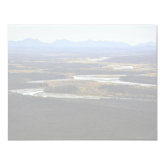 "The Wild River & Brooks Range - North of Bettles - 4.25"" X 5.5"" Invitation Card"