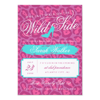 The Wild Side Bachelorette Party Invitation