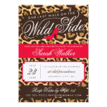 The Wild Side Bachelorette Party Invitation (red)