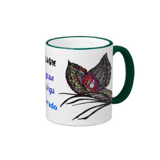 The Wild Side Butterfly Ringer Mug