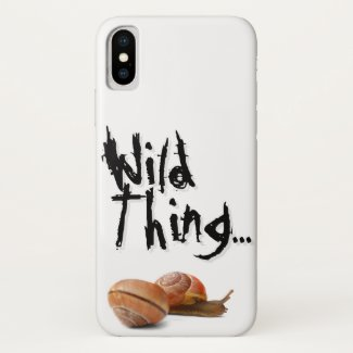The wild side of a snail... iPhone x case