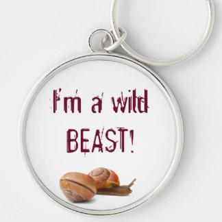 The wild side of a snail keychain