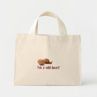 The wild side of a snail mini tote bag