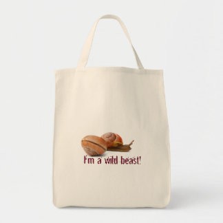 The wild side of a snail tote bag