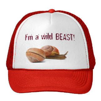 The wild side of a snail trucker hat