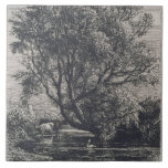 The Willow (etching) Ceramic Tile