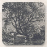 The Willow (etching) Drink Coaster
