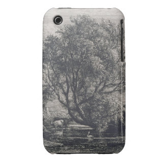 The Willow (etching) iPhone 3 Case-Mate Case