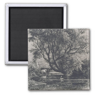 The Willow (etching) Magnet