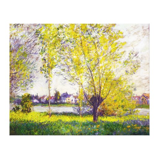The Willows, by Claude Monet Canvas Print