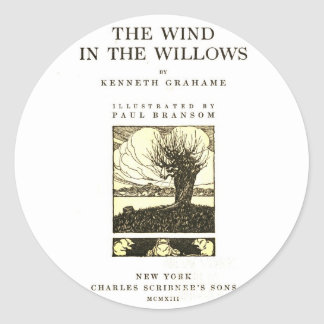 The Wind in the Willows Classic Round Sticker