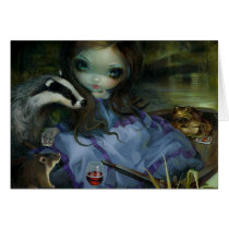 the wind in the willows, wind in the willows, toad, mr. toad, rat, badger, fairytale, willow, jasmine, becket-griffith, artsprojekt, mister, kenneth grahame, modern eden, modern eden gallery, animal, animals, new contemporary, new, contemporary, art, boat, river, book, big eye, big eyed, nymph, becket, griffith, jasmine becket-griffith, beckett, jasmin, strangeling, artist, goth, gothic, fairy, gothic fairy, faery, fairies, Card with custom graphic design