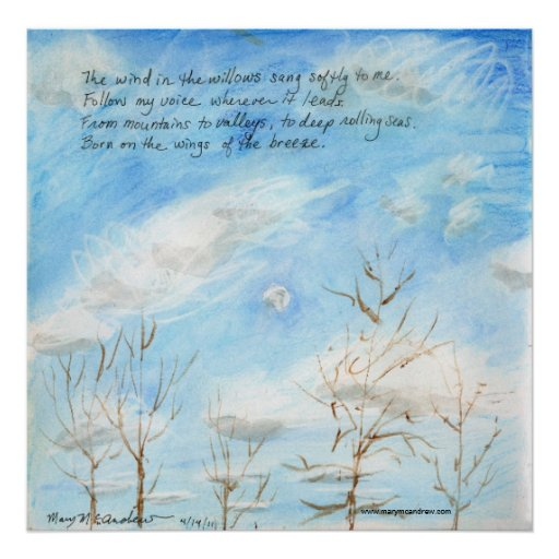 """""""The Wind in the Willows"""" verse on Painting Poster"""