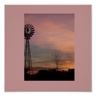 the wind mill scene Poster