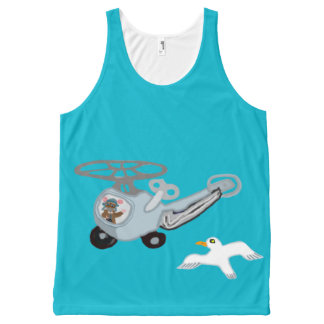 The Wind Up Helicopter, Aviator And The Seagull All-Over Print Tank Top