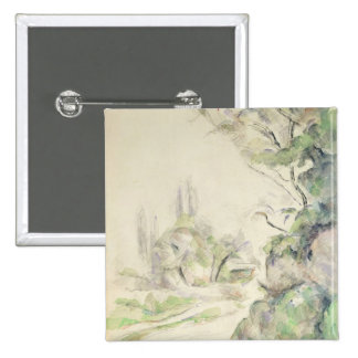 The Winding Road, c.1900-06 (w/c on paper) 2 Inch Square Button