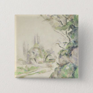 The Winding Road, c.1900-06 (w/c on paper) Pinback Button