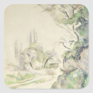 The Winding Road, c.1900-06 (w/c on paper) Square Sticker
