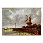 The Windmill At Wijk Bij Duurstede [1]. By Jacob I Greeting Cards