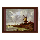 The Windmill At Wijk Bij Duurstede [1]. By Jacob I Greeting Card