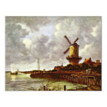 "The Windmill At Wijk Bij Duurstede [1]. By Jacob I 4.25"" X 5.5"" Invitation Card"