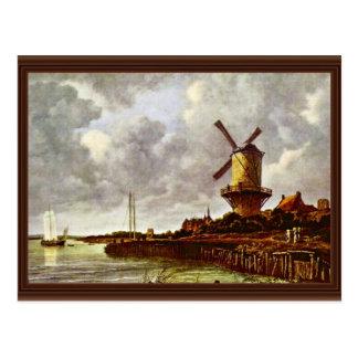 The Windmill At Wijk Bij Duurstede [1]. By Jacob I Postcard