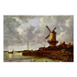The Windmill At Wijk Bij Duurstede [1]. By Jacob I Posters