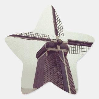 The Windmill from Haarlem Star Sticker