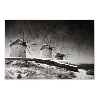 The windmills of Mykonos 2 - Print Photograph
