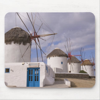 The windmills of Mykonos on the Greek Islands Mouse Pad