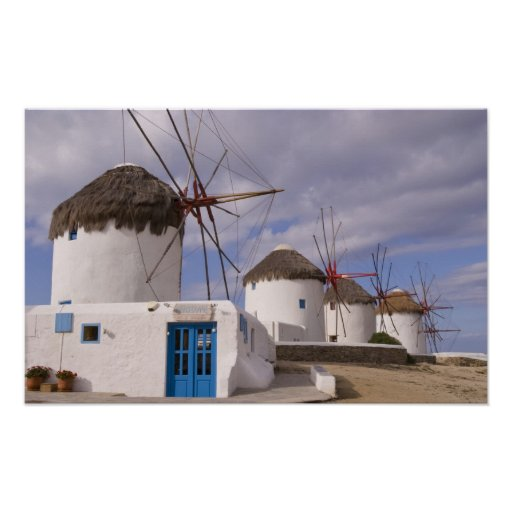 The windmills of Mykonos on the Greek Islands Posters
