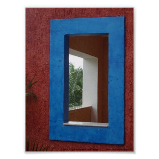 The Window in Riviera Maya, Mexico Poster