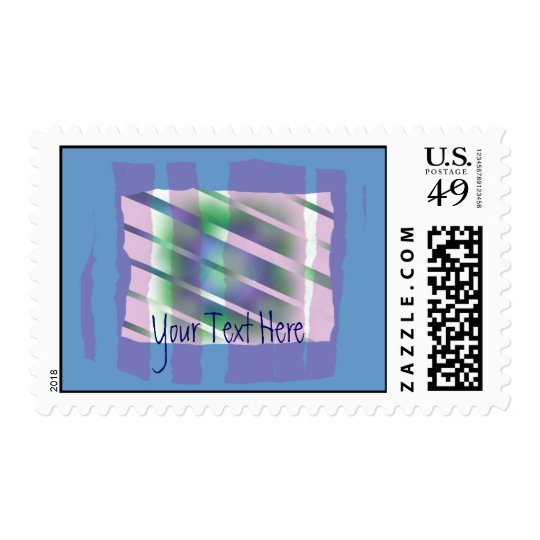 The Window - Odd Colorful Abstract Postage