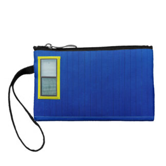 The window on a blue wall coin wallet