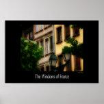The Windows of France-Street Scene Print