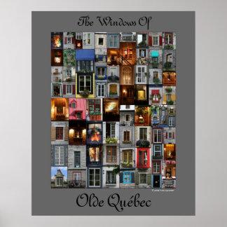 The Windows Of Olde Québec Poster