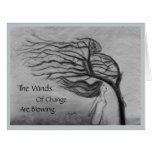 The Winds of Change - Blank Inside - Large Greeting Card