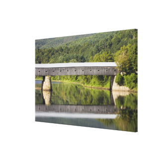 The Windsor-Cornish Covered Bridge spans the Canvas Print