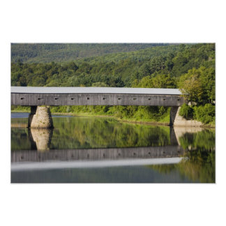 The Windsor-Cornish Covered Bridge spans the Poster