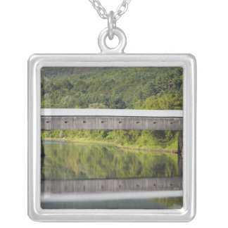 The Windsor-Cornish Covered Bridge spans the Silver Plated Necklace