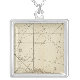 The Windward Passage with several passages Square Pendant Necklace